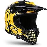 "Soxon® SKC-33 ""Fusion Yellow"" · Kinder-Cross-Helm · Motorrad-Helm MX Cross-Helm MTB BMX Downhill · ECE Schnellverschluss SlimShell Tasche S (53-54cm)"