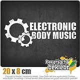 KIWISTAR Aufkleber - Elektronic Body Music - EBM Zahnrad - Autoaufkleber Sticker Bomb Decals Tuning Bekleben