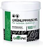 GreenPet Grünlippmuschel-Pulver 100g - Naturprodukt für Hunde und Katzen, Gelenk-Pulver Naturrein, Aktiv Gelenk-Kraft zur Unterstützung Gelenke, Knochen, Bänder, Sehnen, Premium Qualität aus Neuseeland