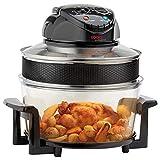Cooks Professional Friggitrice elettrica con forno alogeno con timer e accessori, 1400W 17L