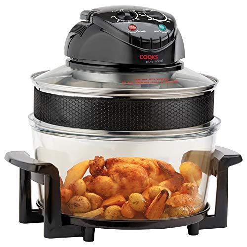 Cooks Professional Freidora eléctrica halógena temporizador