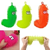 Prevently creative lampeggiante Caterpillar Squeezable stress Squishy Toy super Slow rising Fun peluche palla antistress Fun Gift for Kids, Random color