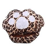 TOOGOO(R) 1 x Leopard Cat-Pad USB riscaldata Slipper Scaldapiedi Laptop --- colore casuale
