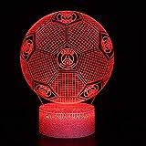 Illusion 3D Paris Saint-Germain FC Lumière ambiante 7 couleurs intelligente Lampe de table LED de base pour cracker anniversaire de Noël cadeau d'enfant cadeau de fan de football...