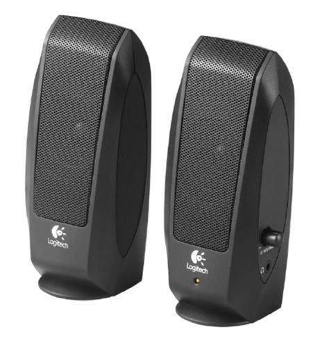 Logitech S120 980-000010 - Casse Altoparlanti Stereo 2.0, Jack 3.5mm, Controllo Volume, Presa Cuffie, 2.2W (RMS), Nero