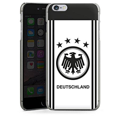 Apple iPhone X Silikon Hülle Case Schutzhülle Deutschland EM Trikot Fußball Europameisterschaft Hard Case anthrazit-klar
