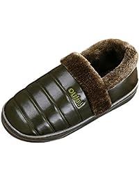 be3f3c198e28 SK Studio Unisex Gefüttert Hausschuhe Bootsschuhe Warme Plüsch Pantoffeln  Geschlossen Weichsohle Rutschfest Plüschschuhe