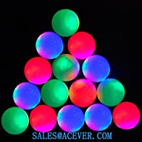 15 piezas noche Golf bolas LED brillo en la oscuridad (colores mezclados) noche Flyer