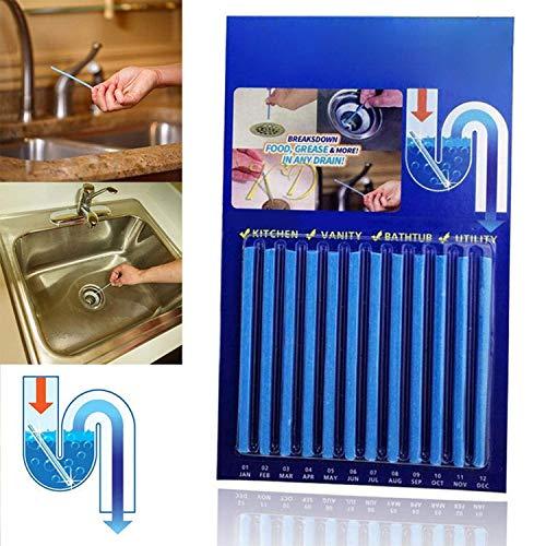 HyPee Wie im TV Gesehen Magic Sticks Drain Cleaner und Deodorant Geruchsentferner, Flow Ablaufstreifen für Bad & Küche Geruchsentferner Sticks (12pcs)
