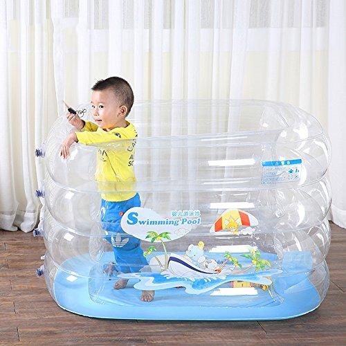 PIGE Multi-Funktions-aufblasbare Spiel-Pool, Umweltschutz PVC-Materialien Falten Badewanne, Baby Kinder Schwimmbad (140*110*72cm) ( größe : 140*110*72cm ) Aufblasbarer Pool Spielen