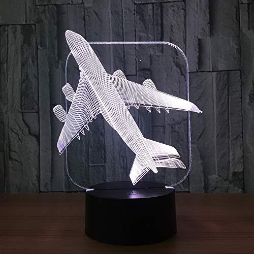 F-16 Aircraft 3D Lampe Flugzeug 7-farbig USB Power 3D Nachtlicht Home Decoration ## 3 (Assistenten Kostüm Kind)