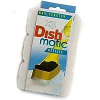 9 Non Scratch Dishmatic White Refill Sponges
