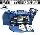 Royal Umhängetasche DayTripper Picknick-Set & Kühltasche, Teller, cutlrey und Teppich im lieferumfang enthalten