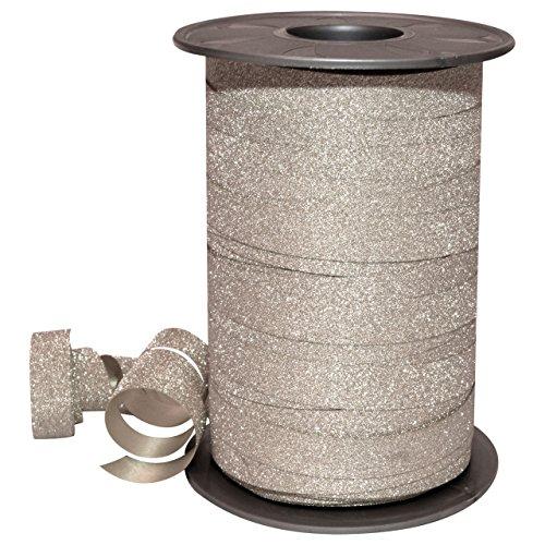Polyband silber Glitter 10mm/100m