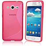 Funda carcasa para Samsung Galaxy CORE 2- CORE II (G355H) gel S-Line rosa