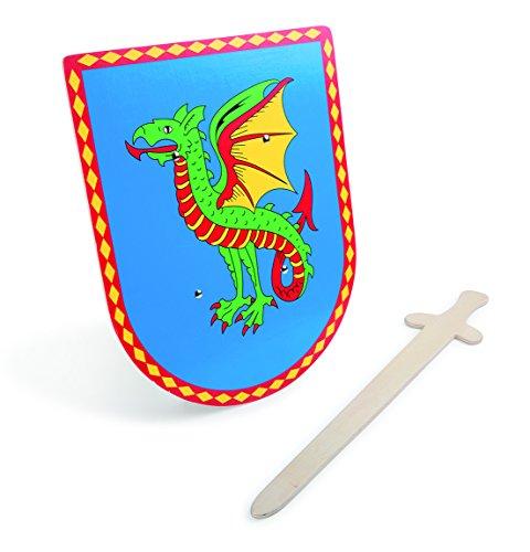 Small Foot by Legler 5892 Schild und Schwert Drache, Spiel, unisex-child, keine (Ritter Der Tafelrunde Kinder Kostüm)