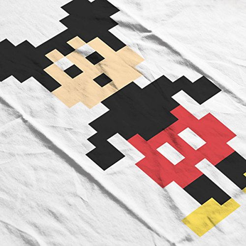 Mickey Mouse Pixel Character Women's Vest white