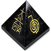 Healing Crystals India®: 20–30 mm Reiki-Symbol, handgraviert, schwarzer Achat, Fen-Shui, Pyramide mit Kristallheilung... preisvergleich bei billige-tabletten.eu