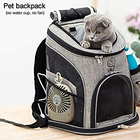 Makerfire Haustier Rucksack Transport Hunderucksack für Hunde und Katzen Rucksäcke Outdoor