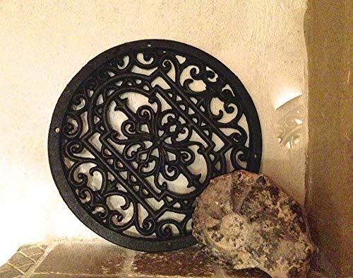 Antigua - Rejilla redonda como rejilla chimenea decoración