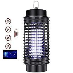 amaes Elektro-Fliegenfalle, UV LED 9 W, ohne chemische Produkte, gegen Bienen, für Büro, Garten, aus ABS-Kunststoff, 1 Stück, 4U, Rot