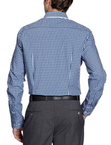 MEXX - Camicia a righe, manica lunga, uomo Blu (Blau (424))