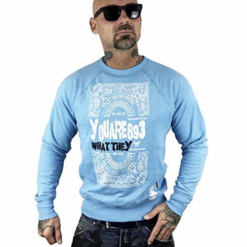 Yakuza Original Herren No Matter Pullover Sweater Maui Blue