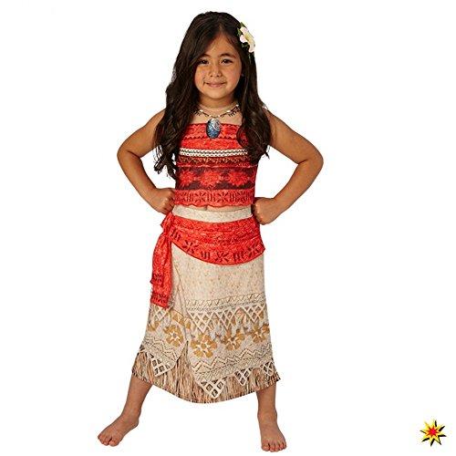 Costume lusso Vaiana bambina 7/8 anni (122/128)
