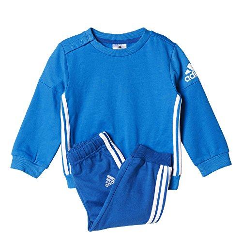 adidas Kinder Trainingsanzug I SP Crew Jog, Blau/Weiβ, 86, 4055344222003