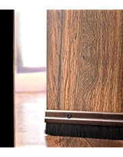 "Deco Window Home Door Seal (94cm/36.5"") Aluminium Plate With Nylon Brush Brown"