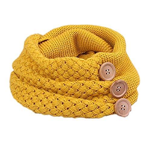 Yuson girl sciarpa donna inverno donna inverni scialle maglione wrap maglia scialle inverno donna, poncho donna invernale collo sciarpa (giallo)