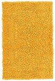 Lashuma Wannenvorleger Chenille gelb - mais | stilvolle Badewannenmatte | 50 x 80 cm