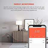 TECKIN Smart Plug WiFi Socket Mini Outlet Remote Control Energy Monitoring Timing Function Works with Alexa Google Home No Hub Required, 16A (2 Pack)