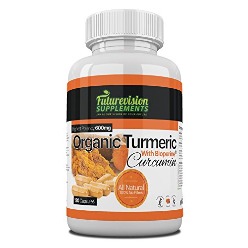 Vegetarian-Organic-Turmeric-With-Bioperine-100-Pure-Turmeric-Curcumin-And-Black-Pepper-Extract-Piperine-No-Fillers-120-Vegetarian-Turmeric-600mg-Capsules-can-be-doubled-to-super-strong-1200mg-Powerful
