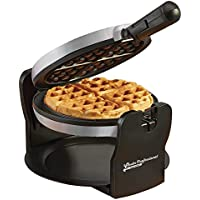 Belgian Waffle Maker Rotary Electric Iron 180° with Non Stick Coated Cooking Plates, 920W (Grey/Black)