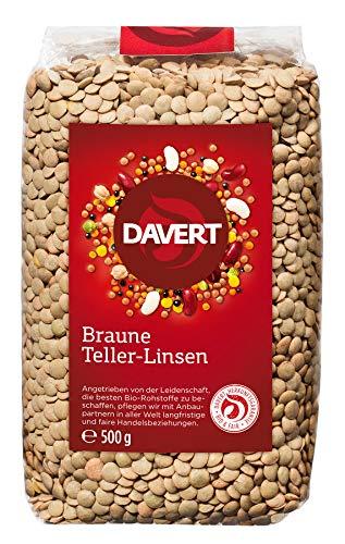 Davert Braune Teller-Linsen (500 g) - Bio