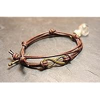 Pusteblume Armband Infinity - echtes Boroglas Löwenzahn