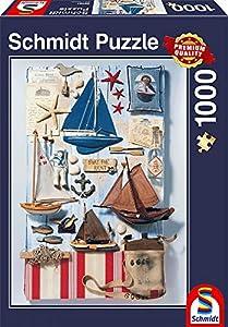 Schmidt Spiele 58381 - Puzzle (1000 Piezas), diseño de puzle de maritima Potpourrí, Multicolor