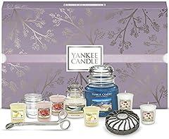 Idea Regalo - YANKEE CANDLE Confezione Regalo Natalizia con Candele Profumate e Accessori, Turquoise Sky, Set da 11 Candele