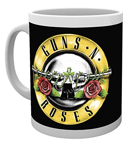 Guns N' Roses Bullet Logo Tasse weiß White Rose Tasse
