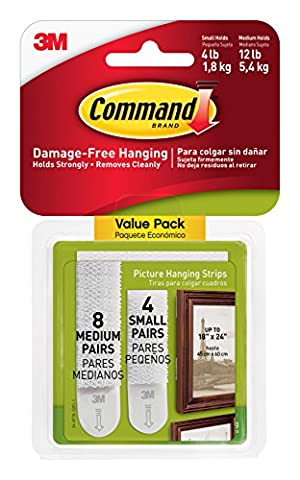 Command Small and Medium Picture Hanging Strips Value Pack, 4
