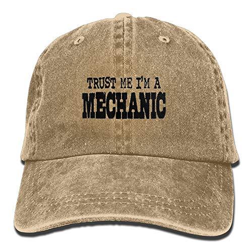 Preisvergleich Produktbild Trust ME I'm A Mechanic Washed Cap Cowboy Baseball Hat Natural