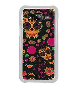 Colourful Skull Wallpaper 2D Hard Polycarbonate Designer Back Case Cover for Samsung Galaxy J2 J200G (2015) :: Samsung Galaxy J2 Duos :: Samsung Galaxy J2 J200F J200Y J200H J200GU
