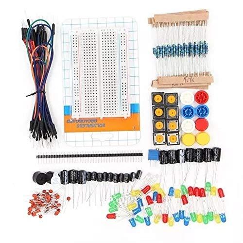 Lin Feng Xin Mu Cai Starter Kit for Arduino-Widerstand/LED/Kondensator/Überbrückungskabel / 400-Loch-Steckbrett/Widerstands-Kit Mit Kunststoffbox Starter-Kit for tragbare Komponenten