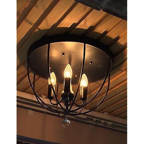 LYNDM-Mejor regalo de Navidad, la consola de luz de techo de estilo americano Lámparas vintage Europeo Balcón Luces , 220-240 V