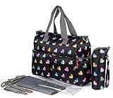 Chilsuessy Baby Wickeltasche Babytasche Pflegetasche mit Wickelunterlage und Flaschenwärmetasche vielen Fächern und Universal Haken als Kinderwagen Befestigung für Reise unterwegs , 5#