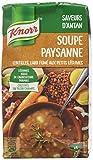 Knorr Soupe Secrets de Grand-Mère Soupe Paysanne Lentilles/lard Fumé aux Petits Légumes 1 L