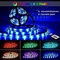 6M LED Streifen OMERIL USB LED Strip Wasserdicht LED Band RGBW mit Fernbedienung, LED Leiste Lichtband mit 16 Farbwechsel, 4 Modi, Verstellbare Helligkeiten/Geschwindigkeit für Haus, Küche, Party usw. von 776189