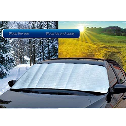 LSXIAO-parasol coche Parabrisas Delantero Visera Solar