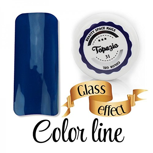 Color Line – Couleur couvrante et effet verre – Gel UV coloré 5 ml, reconstruction de faux ongles Bleu pétrole